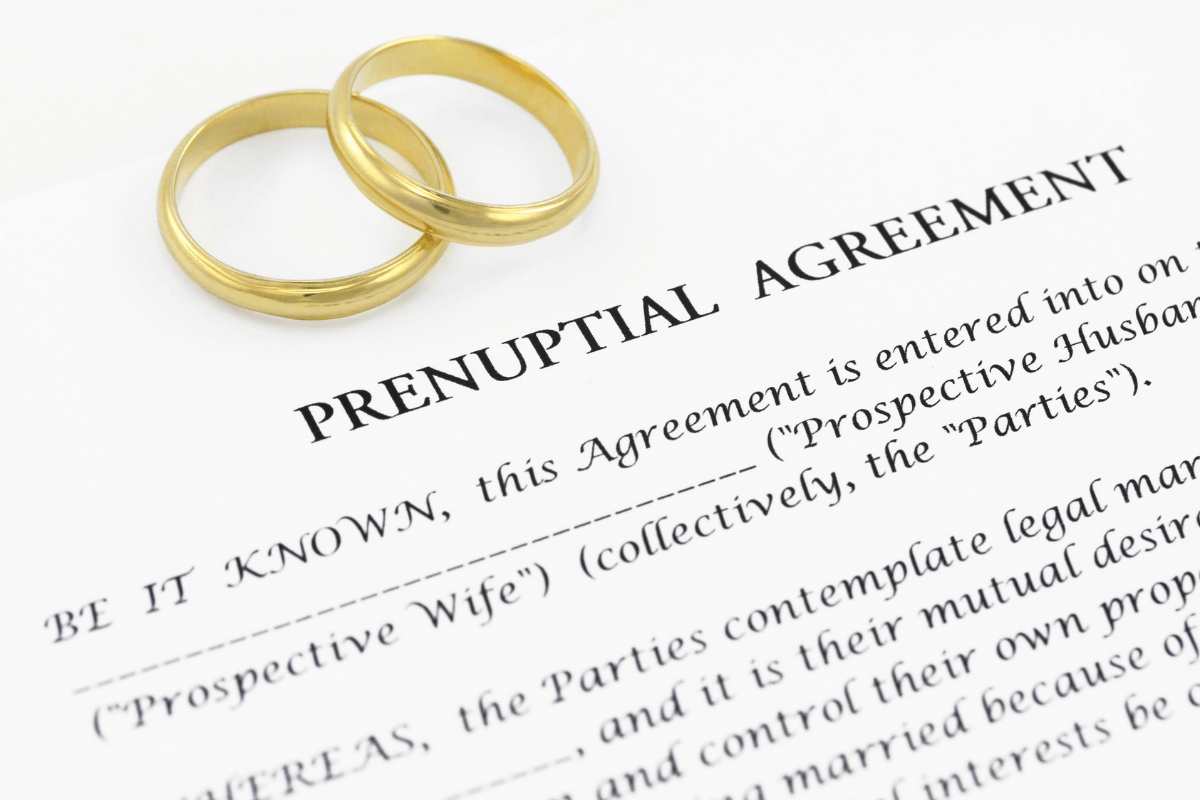 common prenuptial agreement clauses